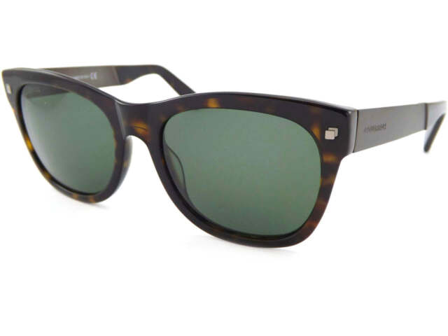 348c26a67e2ac DSQUARED - JUSTIN Dark Brown Tortoise Sunglasses Green Lenses DQ0162 S 52F