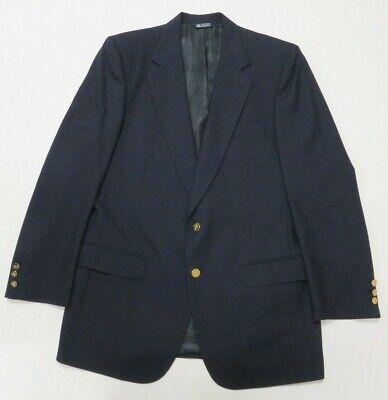 NEW HARGIO Mens Blazer Navy Blue Jacket Sport Coat 40R Gold Buttons  NEW