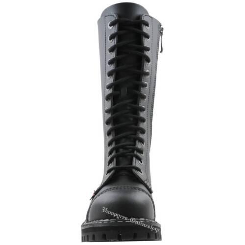 Angry Stahlkappen Rv loch Vegan 14 Stiefel Rangers Schwarz Itch Reißverschluss rwxrqz86a