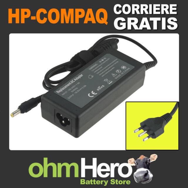 Alimentatore 18,5V 3,5A 65W per HP-Compaq Busines Notebook 550