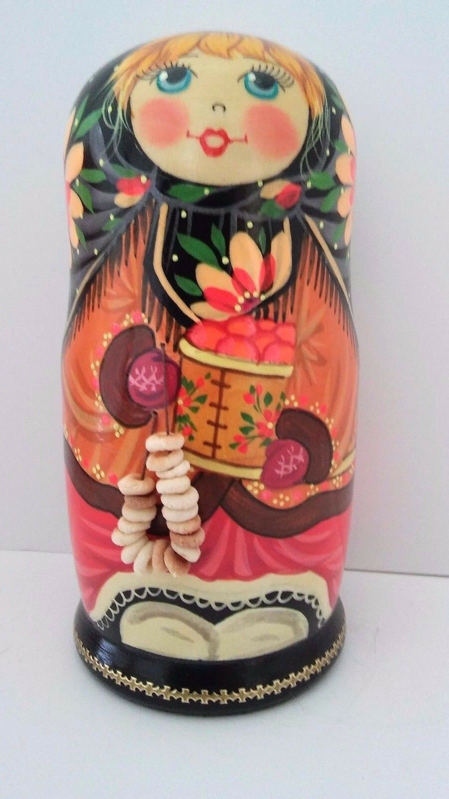 NESTING bambolaS  5PC.SET. MUSEUM QUALITY MATRESHKA WITH borsaELS Russian Wooden  80% di sconto