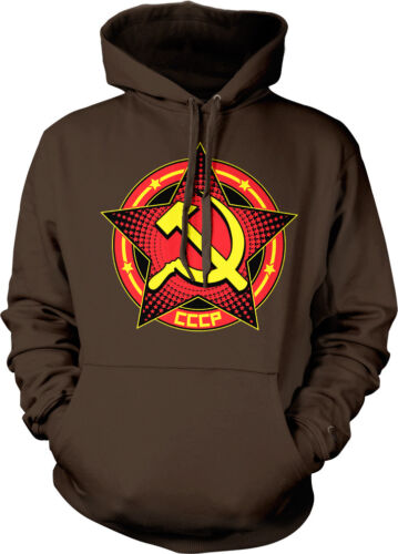 Hammer and Sickle Star CCCP Crest Nationality Country Hoodie Pullover