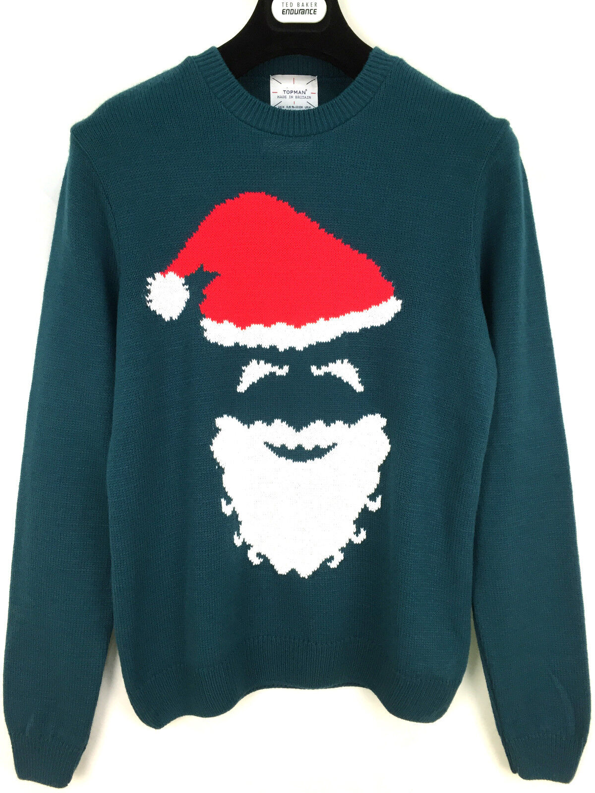 Topman  Herren Christmas Santa Felpa MIURA XS_S_M _ Verde