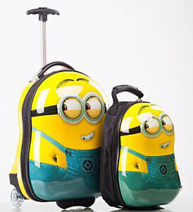 Sale! MINION EGG SHAPED KIDS CHILDRENS LUGGAGE SUITCASE TROLLEY ...