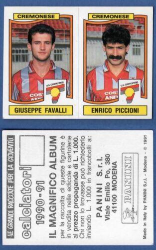 FIGURINA CALCIATORI PANINI 1990//91 - CREMONESE NUOVA//NEW N 394 FAVALLI//..