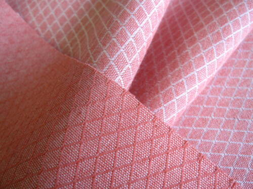 SOLD PER METRE Curtain material 139cm w Pink dobby cloth upholstery fabric