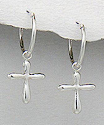 30mm x 11mm Mia Diamonds 925 Sterling Silver Cubic Zirconia Faith Cross Clip-On Charm