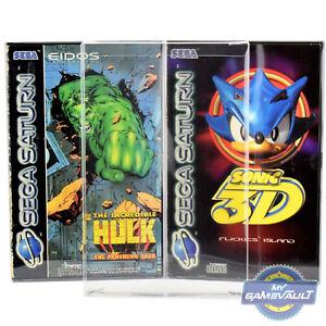 25 X Saturn Game Box Protections Forte 0.4 Mm En Plastique Pet Display Case Pour Sega-afficher Le Titre D'origine Xqd4nqtj-07164858-630728901