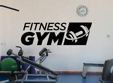 Fitness Gym Logo Wall Decal Sports Dumbbell Vinyl Sticker Art Decor Mural 43fit