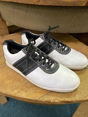 footjoy contour casual sz 105 m white/black leather