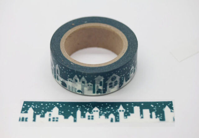 "11Yards Washi Tape Atrovirens Winter Castle 5/8"" (15mm) Decor Tape Paper W8413"
