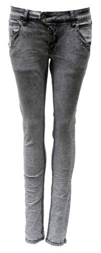 Damen BM-3752 Grey//Silver Shining Manie Blue Monkey Jeans