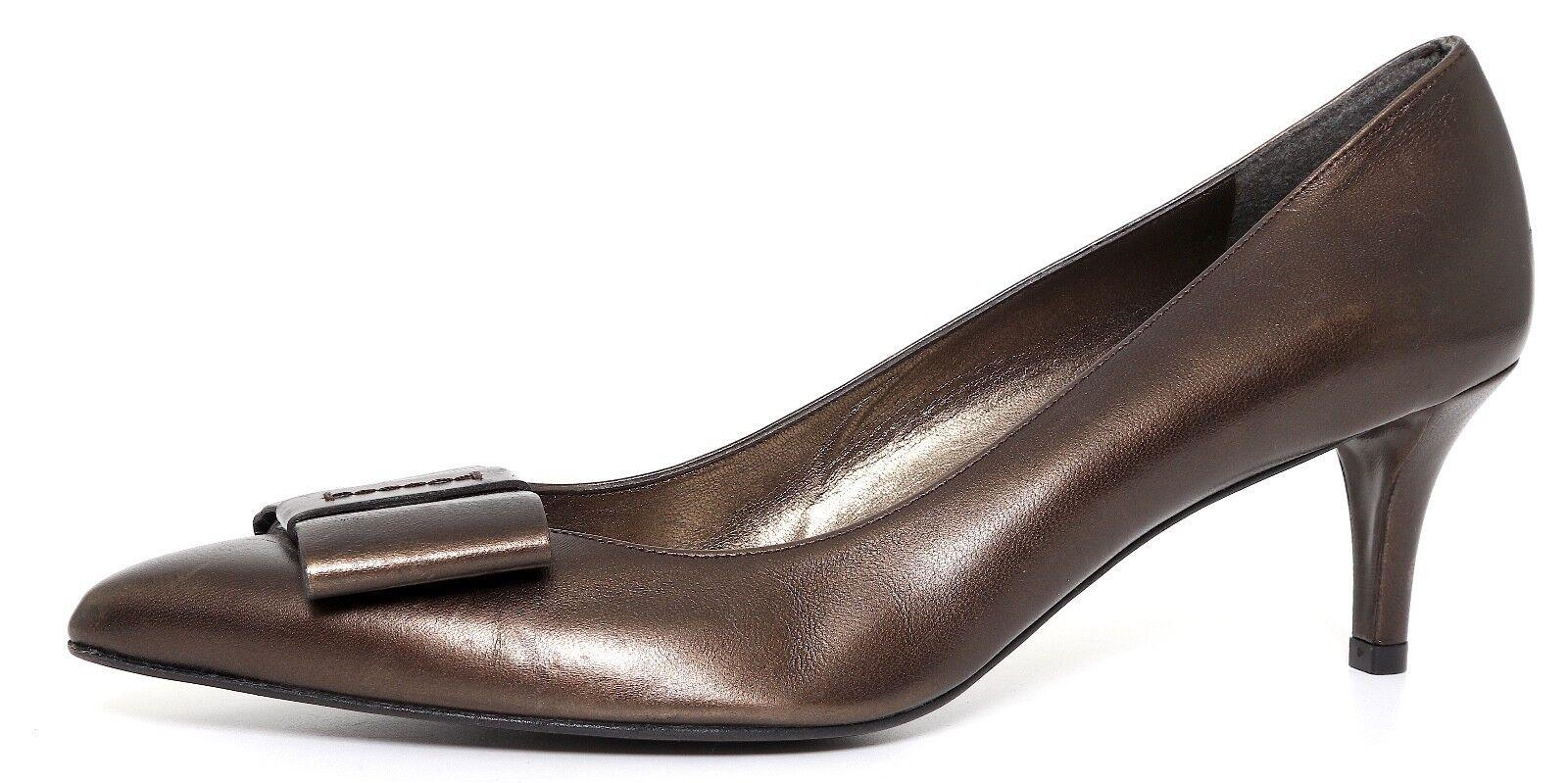 migliore vendita Stuart Weitzman Pointed Toe Bow Leather Low Heel Metallic donna donna donna Sz 11 SS 9768  risparmia fino al 70%