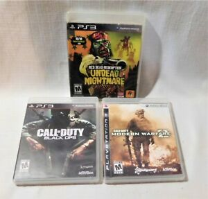 PS3 Video Game Lot of 3: COD Black Ops/Modern Warfare 2 & Red Death Redemption