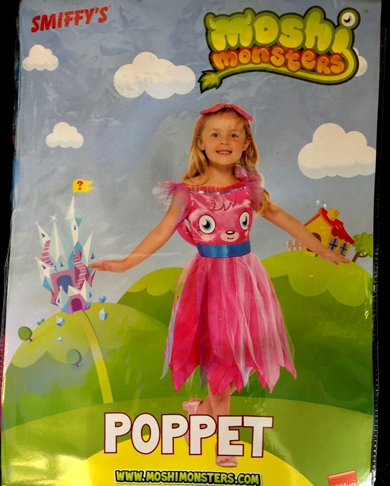 Smiffys Girls Moshi Monsters Fancy Princess Dress Party Birthday Clothes 5-7 YRs