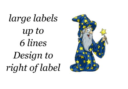 Wizzard Magic Halloween Large Sticky White Paper Stickers Labels NEW