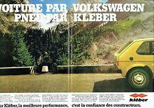 PUBLICITE ADVERTISING 027  1980   les pneus Kléber (2p) la Golf Volkswagen