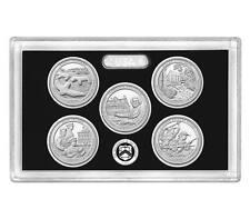 2017-S Silver America The Beautiful Quarter 5 COIN PROOF SET NO Box or COA
