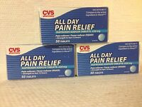 Cvs Lot Of 3 Compare To Aleve All Day Pain Relief Naproxen 220 Mg 150 Tablets