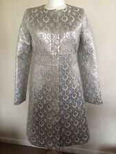 Designer Tara Jarmon evening/coctail coat silver metalic size 36/8 NEW