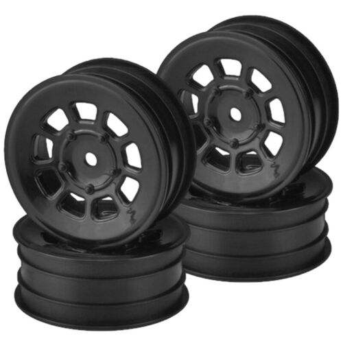 JConcepts 3397B 9 shot 2.2 front wheel black 4pc