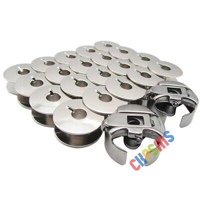 20 Stück # 55623S Metallspulen für Brother PR Stickmaschine PR650 655 PR1000