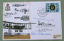 RAF Andover chiusura 1977 Copertina Firmata da ww2 Luftwaffe PILOTA Edmund Rossmann