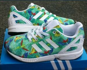 Details about Adidas ZX FLUX Trainers Tropical Infant Boys Girls