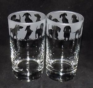 New-Etched-034-DACHSHUND-034-Hiball-Glasses-Beautiful-Gift-Free-Gift-Box