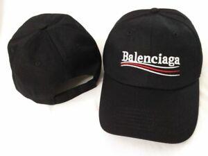 New-Balenciaga-Campaign-Bernie-Embroidery-Baseball-Hat-Adjustable-Cap-Black