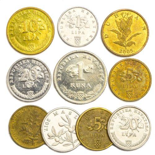 10 CROATIAN COINS LIPA KUNA OLD COLLECTIBLE OLD COINS SET FROM CROATIA