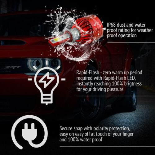 2x H3 CREE LED Headlight Kit Low Beam Power Bulbs 6000K White 388W Instant Start
