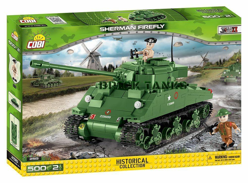 Sherman Firefly WWII Kit - - - COBI 2515 - 500 brick battle tank e52f5c