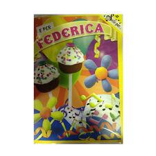 Tarjeta de cumpleaños musical genérico canta nome FEDERICA y FELIZ En TE