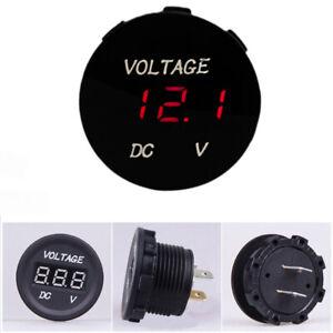 12V-24V-Car-Motorcycle-LED-Digitalanzeige-Voltmeter-Socket-Gauge-Meter-Red-A3