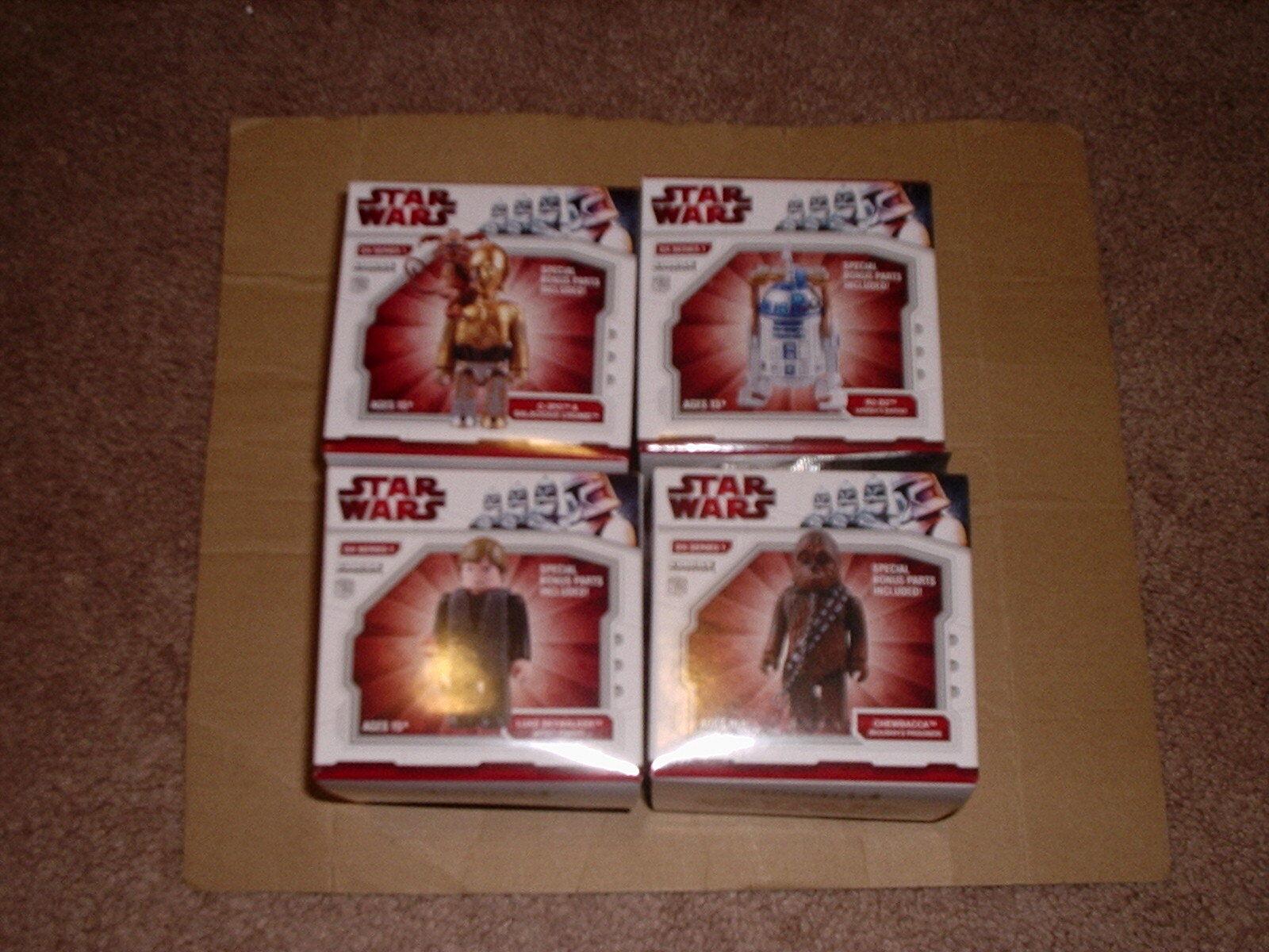 MEDICOM Stern WARS KUBRICK DX1 serie 1 R2-D2 C-3PO LUKE CHEWBACCA SET OF FOUR