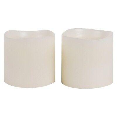 Threshold 2 Pack 3x3 LED Pillar Candles - Ivory