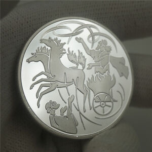 Israel-Bible-The-prophet-of-Elijah-In-The-Wind-Silver-Token-Coin-Collectible