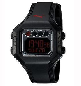 Puma Time Ø46mm Herrenuhr Armbanduhr Bounce-L Schwarz Digitaluhr PU910771002