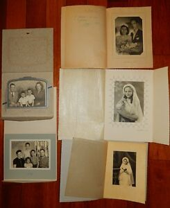 Lots-d-039-anciennes-photos-photographies-Portrait-de-famille-communion