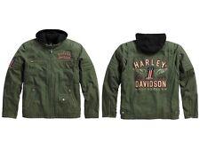 Harley-Davidson Long Way 3-in-1 Herren Jacke * Gr. L - Olive Grün