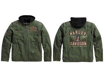 Harley Davidson Long Way 3 in 1 Herren Jacke * Gr. L Olive