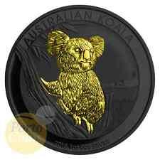 2015 Australia 1 oz 999 Fine Silver Koala Ruthenium & Gold gilded Coin NEW