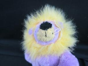 SITTING LOUIE THE LION PURPLE YELLOW GUND 31024 PLUSH STUFFED ANIMAL BABY TOY