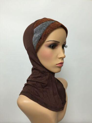 Sparkling Full ninja underscarf cap under hijab lovely stretchy jersey material