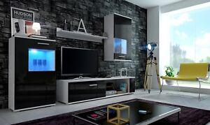 Salon-ensemble-de-meubles-TV-Support-Meuble-Placard-Mural-Brillant