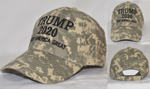 American First 2020 The Campaign Run For President Camo Hat Donald Trump Idiot