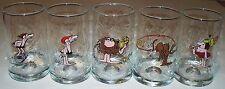 B.C. Comics Johnny Hart Set of 5 Glasses Arbys 1981 Thor,Fat Broad,Grog,Anteater