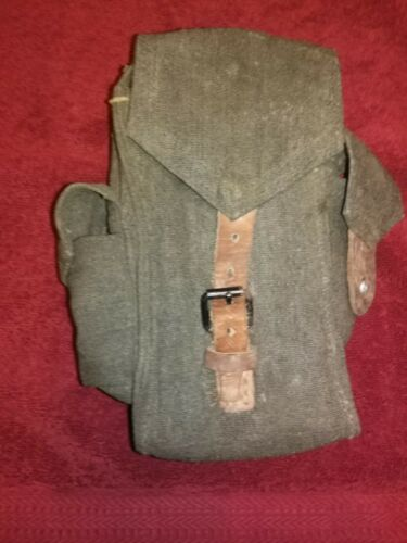 Hungarian 3-Cell Green Canvas Tanker Mag Magazine Pouch FREE SHIP VG Condition