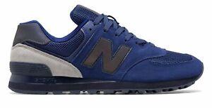 New-Balance-Men-039-s-574-Shoes-Blue-With-Black